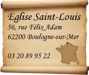 adresse de l'eglise Saint-Louis